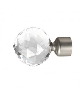 Koncovka Crystal Gula satin nickel Ø25 mm kus