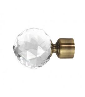 Koncovka Crystal Gula antik Ø25 mm kus