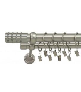 Satin nickel Ø 25/19 mm - Cylinder crystal