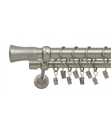 Satin nickel Ø 25/19 mm - Capri