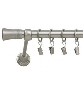 Satin nickel Ø 25 mm - koncovka Capri tyč hladká