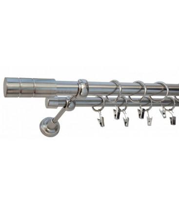 Efekt-nerezová oceľ Ø 25/19 mm - Cylinder hladky