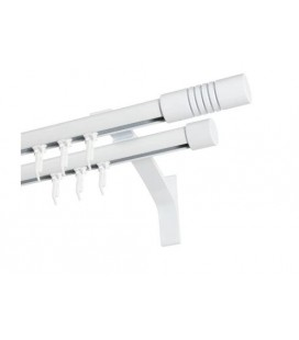 Garniža dvojitá hliníkový profil BIELA koncovka 5 Frez