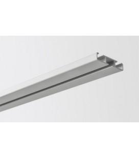 Kolajnica stropná jednoduchá streborna 300cm