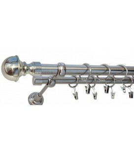 Satin nickel Ø 16 mm - Cylinder