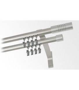 Garnýž dvojitá hliníkový profil INOX koncovka 5 Frez