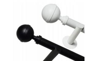 Garnýže bílé / černé Loft Ø25 mm